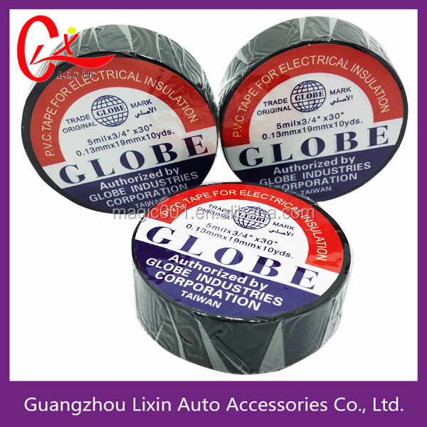 China Accept Paypal Anti-Flame Insulating Tape Globe PVC Electric Tape