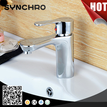 chrome plated fancy bathroom sink faucet