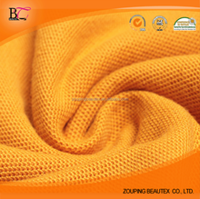 moisture wicking finishing cotton pique knitted mesh fabric for T shirt and sportwear and polo shirt