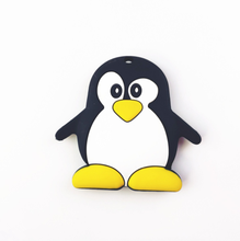 YDS Customized Food Grade Silicone Baby Teething Toys Cute Penguin Teether