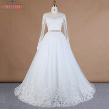 China OEM Supply Jewel Long Sleeves Suzhou Perfect Wedding Dress