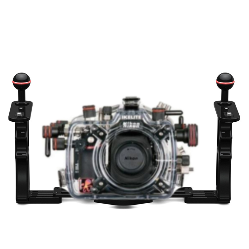 DIVEPRO Z10 dive camera housing holder aluminum alloy waterproof camera dual handheld arm diving accessories