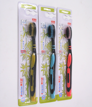 Chinese welcomed ultra fine tapered high density plant bristle toothbrush