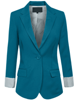 Custom Made Blazer Women Office Classic One Button Boyfriend Casual Blazer