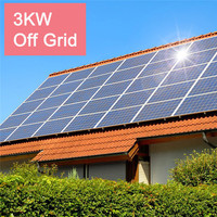 Factory direct sale 3KW solar panel system home, 3000W complete solar power system with 25 years warranty