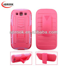 Hot selling robot style holster combo case for samsung i9300 galaxy s3