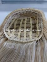 Ladies' human hair 3/4 wig