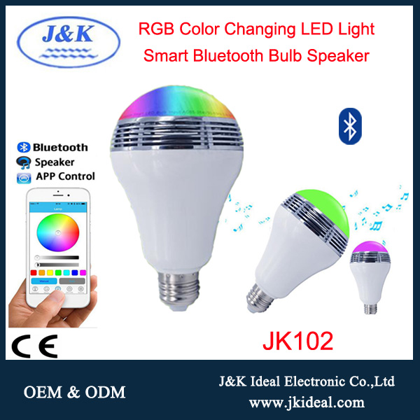 JK102 wireless speaker led rgb lightbulb