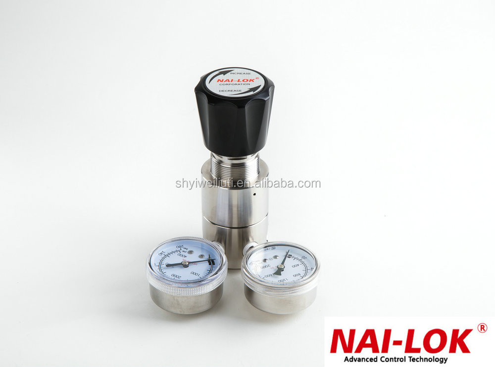SS316natural gas pressure regulator Ajustable pressure regulator