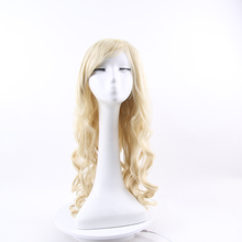 Europe And the United States Curly Big Wave Beige Fluffy Realistic Hair Wigs