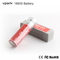 Vpark brand 18650 Li-ion Battery Rechargeable 3.6v 3000mAh made in China