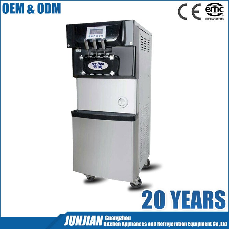 Junjian Soft serve ice cream machine frozen yogurt ice cream maker SS-BQL-208