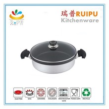 As seen on tv new product soft painting cooking pot aluminum non stick pan shirodhara pot cookwarewith two ears