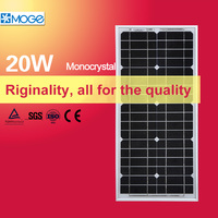 Moge 12v 20w small size solar panel