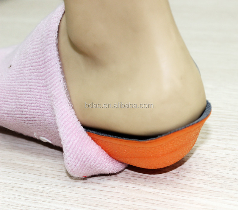 soft pu foam heel lift height increase shoe insole in sock height increase
