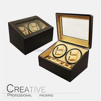 custom order pu leather automatic watch winder for 46 watches - Automatic Watch Winder