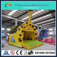 New design giraffe theme inflatable castle,backyard cheap inflatable bouncers for sale