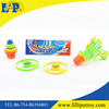 Fun plastic toy spinning Top gun with light for kids