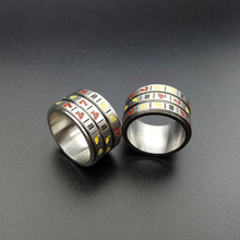 Fruit Slot Machine Gambling Game Pattern Spinner <strong>Rings</strong> For Men Accessories Women Stainless Steel <strong>Ring</strong> Wedding Jewelry 2018