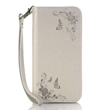 2016 for Samsung Galaxy NOTE 3 Butterfly flower case Embossed Laser Carved Leather Case for Samsung Galaxy NOTE 3 Phone Case
