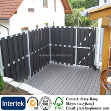 Good quality Europe Popular Anti-UV Waterproof Wood Plastic Composite Board Outdoor Garden WPC Fence