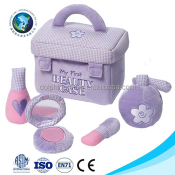 Musical My First Purple Beauty Case Stuffed Baby Kit Playset soft kids baby plush toy