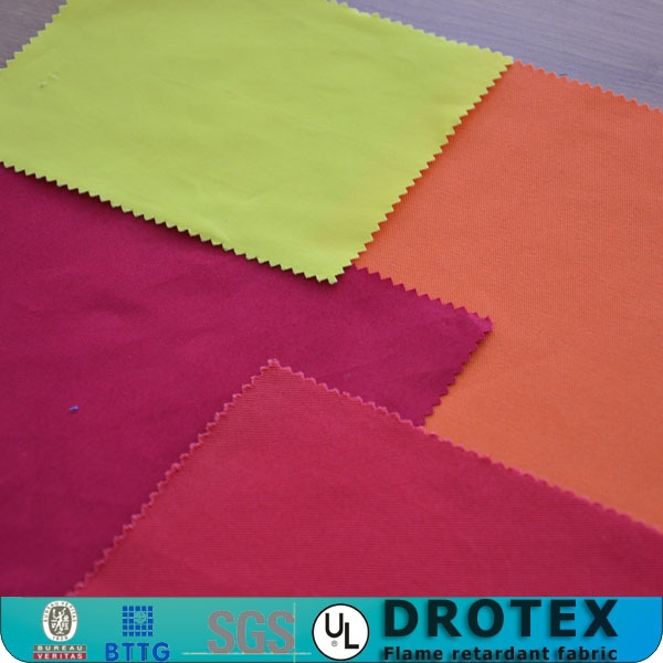 hot-selling CVC 75/25 Hi-vis flame retardant antistatic satin fabric for coverall