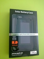 Extended Solar Kickstand Charger External Case/Cover 3000mAh battery for IPhone