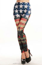 Unique Distressed American Flag Legging Dirty American flag leggings American Flag Fashion Leggings A11447