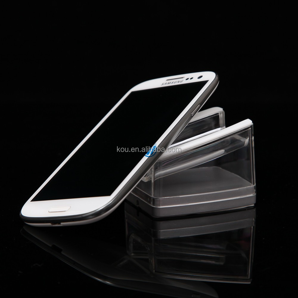 Desktop acrylic display holder for samsung android smartphone U shape cell phones clear stand display
