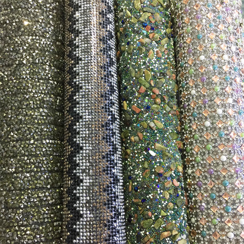 Wholesale custom hotfix iron on crystal rhinestone fabric strass sticker  mesh roll. Go to Page 4dca0ec6e30d