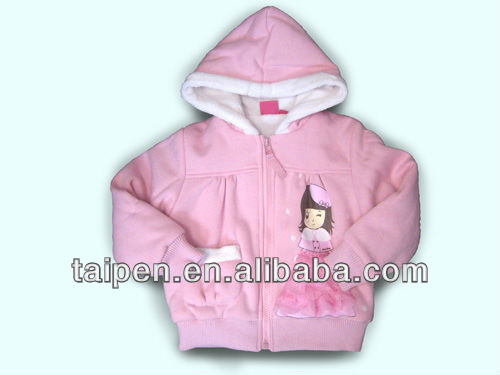 Girls winter coat with hood, Children Clothes with fur,Children wear/child wear