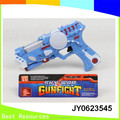 2015 Cool and Popular Flashlighted and Musical Toy Gun with 4 different colors