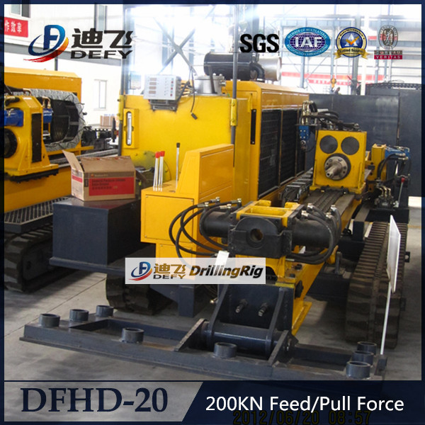 200kn push capacity DFHD-20 DEFY hull hydraulic horizontal drilling machine