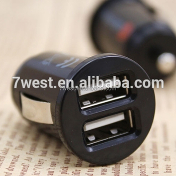 High Efficiency Portable Dual USB Car Charger for all Smart Phone