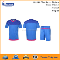 Soccer uniform plain shirts top quality huge stocks for wholesale red blue green many colors football jerseys