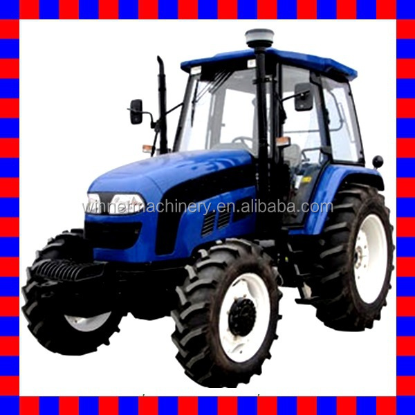 Cheap price ! 90hp tractor with right side 12F+4R shift,hydraulic steering,PTO 540/1000,3points linkage,traction system