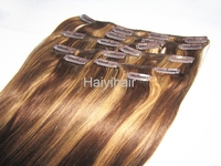 2015 hot product wholesale unprocessed clip in human hair extensions for black women