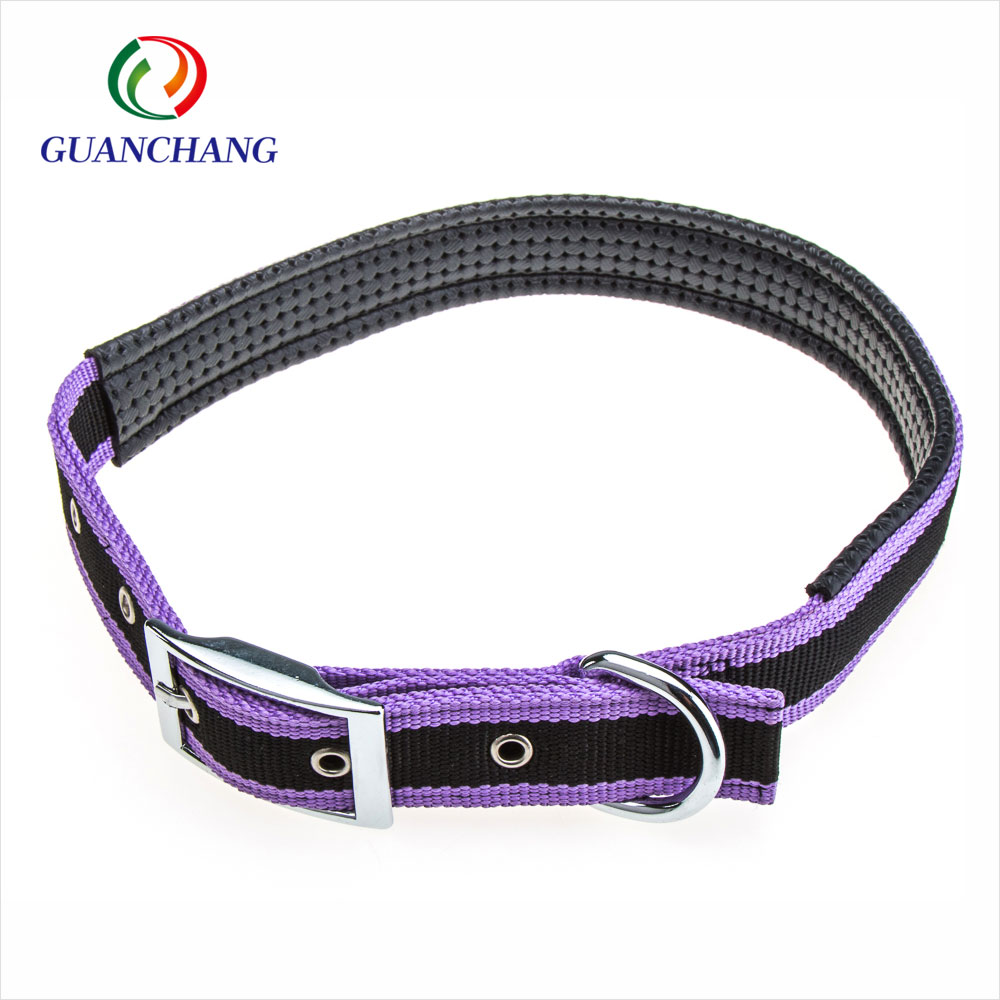 custom fashion nylon padded dog training collar