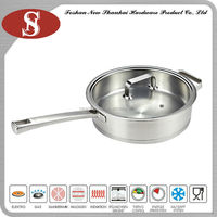 High quality stainless steel induction deep fry pan