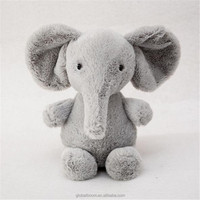 Cute Adorable Cartoon Grey Elephant Plush Stuffed Animal Elephant Plush Toy