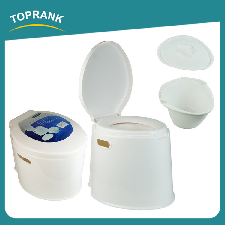 Toprank 41*33*38CM portable public toilet, easy use plastic toilet
