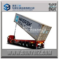3axle Shipping Container Trailer Container Flatbed