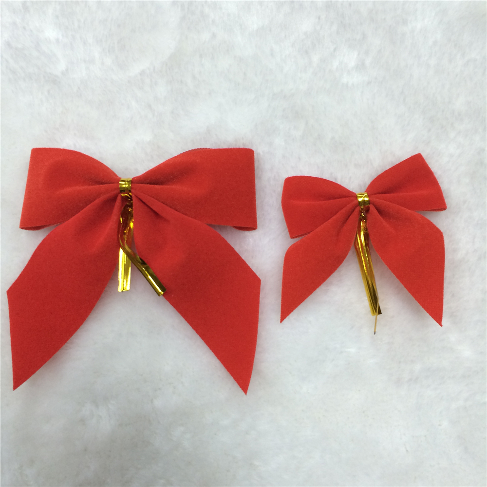 Factory outlet cheap mini Christmas velvet ribbon bow for sale