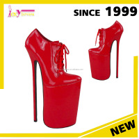 Good Quality Sexy Very High Plaform Popular Point Toe Red Beautiful High Heel Platform Shoes for Women