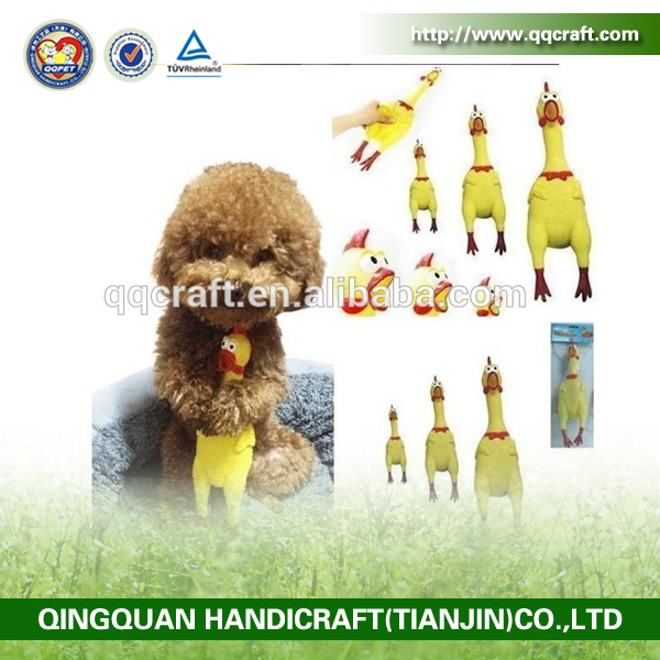 Factory direct high quality nontoxic small birds rubber dog toy,wholesale squeal rubber pet toy