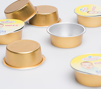 25ml golden aluminum foil food container/ cheese container