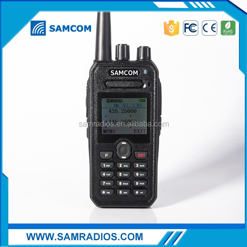 SAMCOM Dual band Two way amateur radio AP-400UV PLUS with large LCD colorful screen,big battery capacity 2200MaH