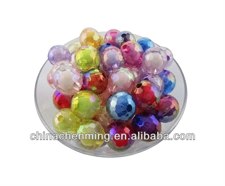 2014 new design colorful acrylic round miracle bead