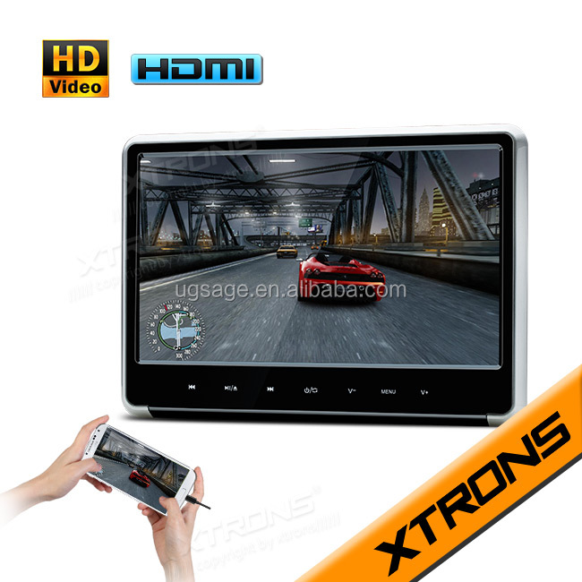 "11.6"" HD Digital TFT Touch Panel 1080P Video Headrest game function dvd player with HDMI Port"